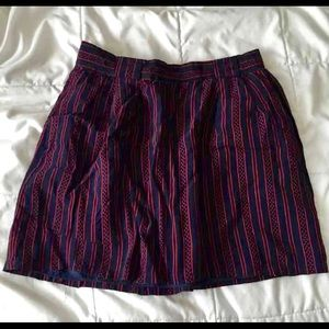 Sz 25 blue red miniskirt